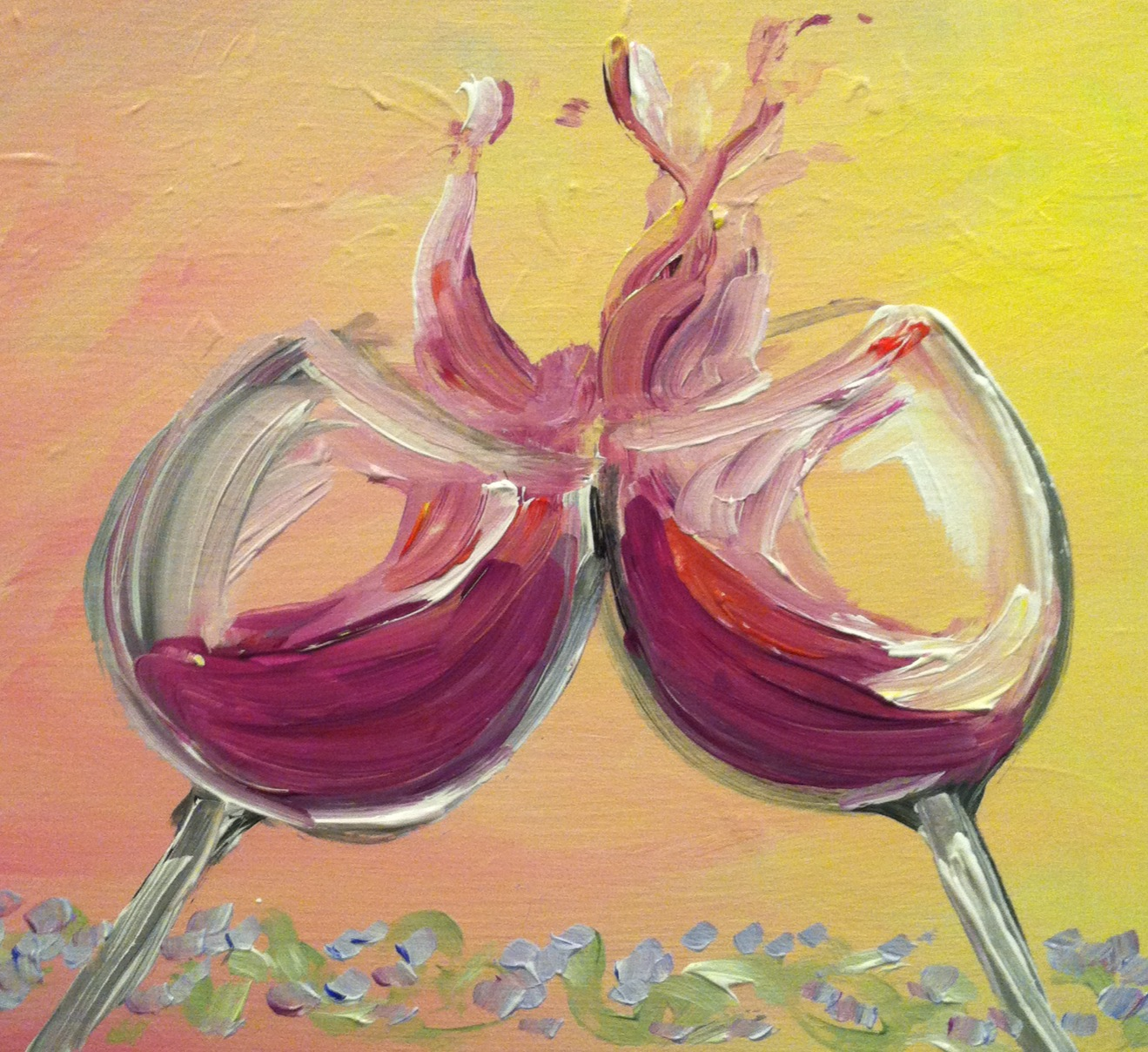 Aure wines paint nite uncork niagara wine tours event for Painting and wine